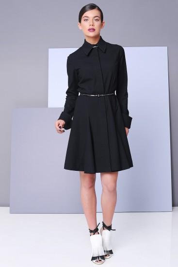 Rochie camasa neagra cu cordon Cantor