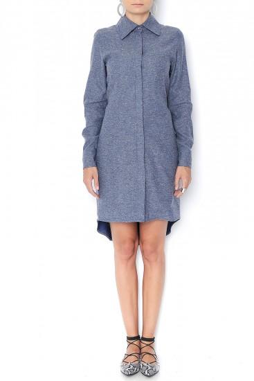 Rochie camasa din lana tip denim