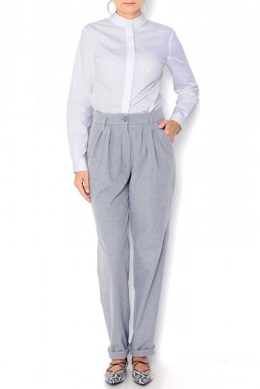 Pantaloni pana largi stofa gri