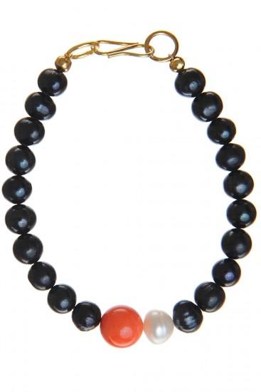 Bratara coral si perle