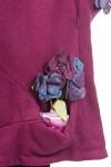 Pardesiu lana ciclam cu aplicatii florale