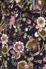 Palton din catifea cu detalii florale