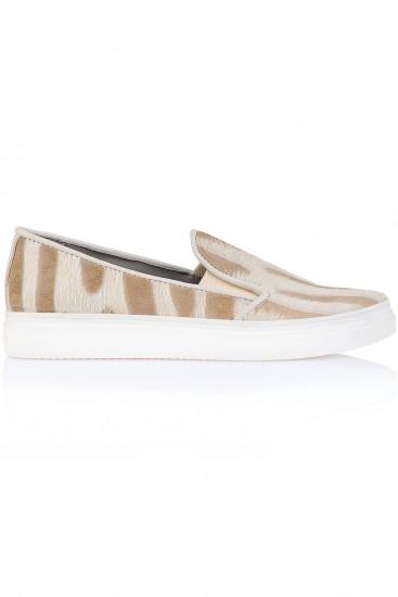 Sneakers piele Zebra crem
