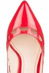 Pantofi stiletto rosii din piele lacuita