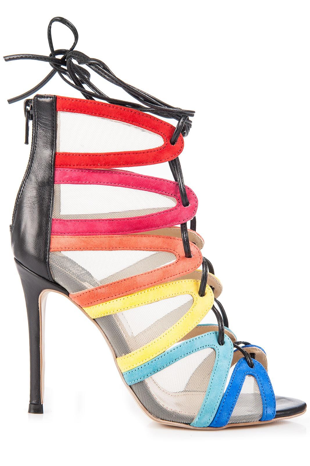 Atelier Faiblesse   Sandale cu platforma si toc piele