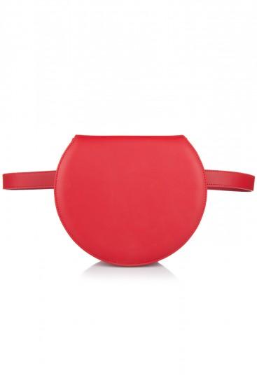 Geanta borseta cu barete detasabile piele rosie