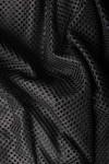 Rochie midi plasa neagra si captuseala tricot