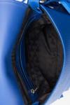Geanta de umar cu franjuri piele albastra