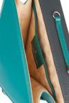 Geanta borseta cu barete detasabile piele verde