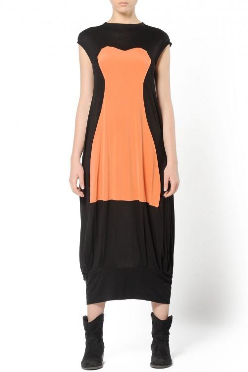Rochie lunga din tricot negru
