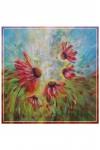 Esarfa mare matase naturala Trupul absurd al lui sunt si florile lui