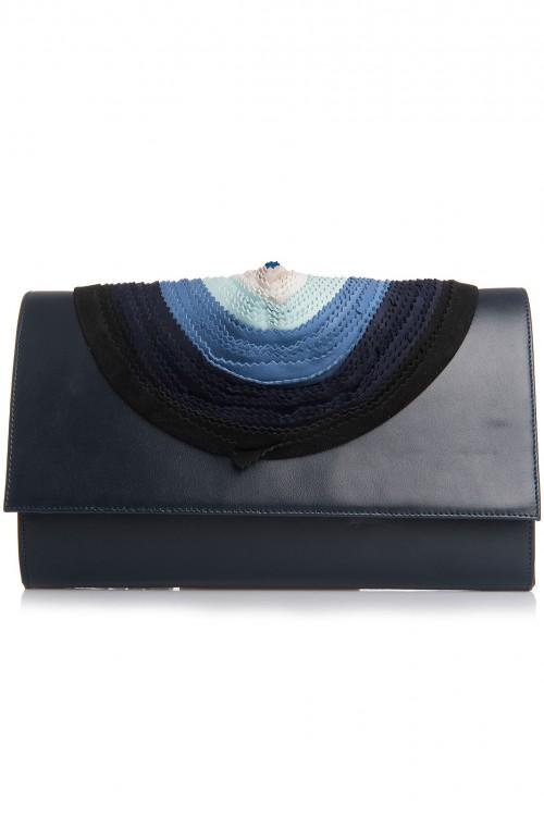 Geant plic piele bleumarin cu floare Blue rainbow