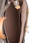 Geanta piele cu manere din lemn