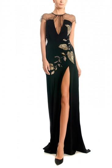Rochie de seara cu corset si aplicatii din paiete