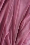 Bluza semitransparenta roz cu maneci ample