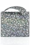 Clutch piele argintie glitter