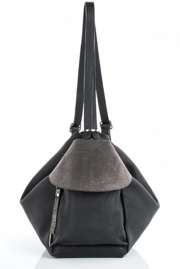 Rucsac si geanta de umar piele neagra Juliet