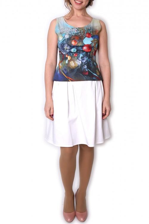 Bluza cu print bumbac satinat Sphere movement