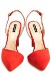 PantofI sanda piele rosie Red Passion