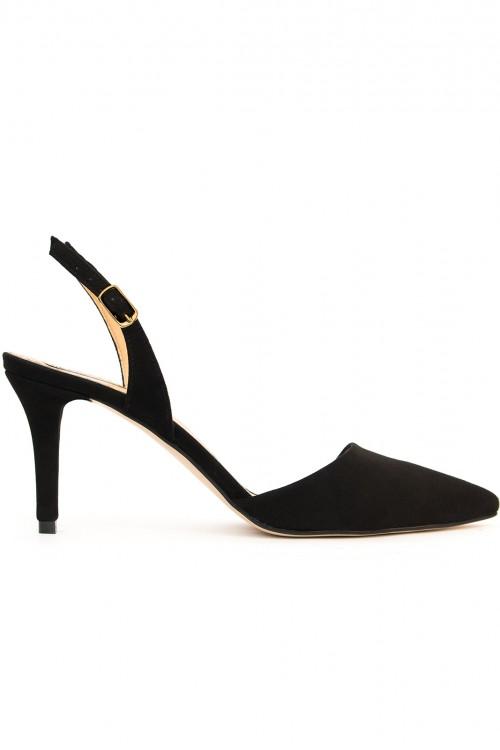 Pantofi sanda piele neagra Black Elegance