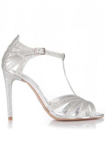 Sandale de seara argintii Sweetheart