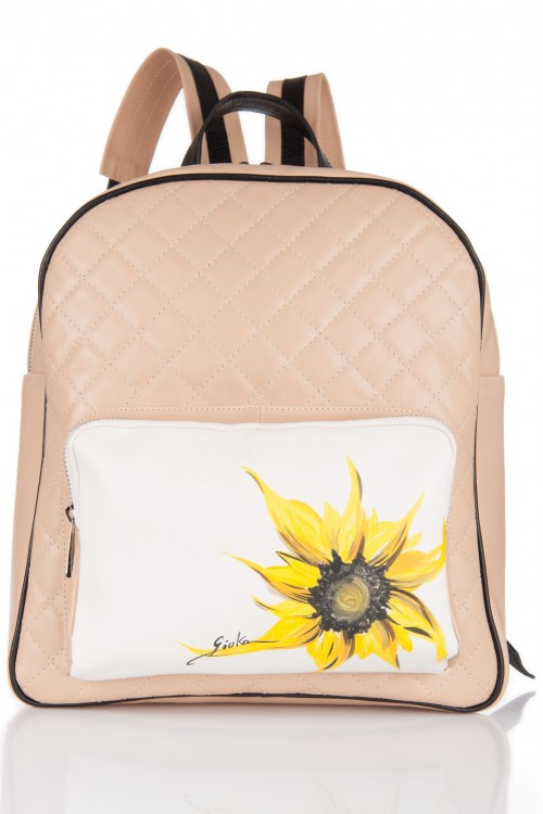 Rucsac nude pictat manual Sunflower