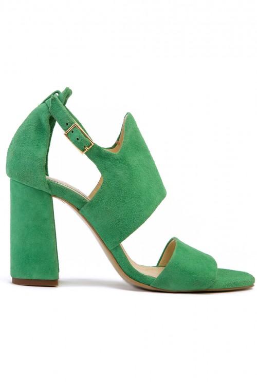 Sandale verzi cu toc gros