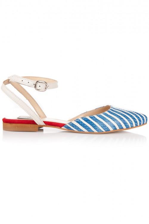 Pantofi cu dungi albastre Navy