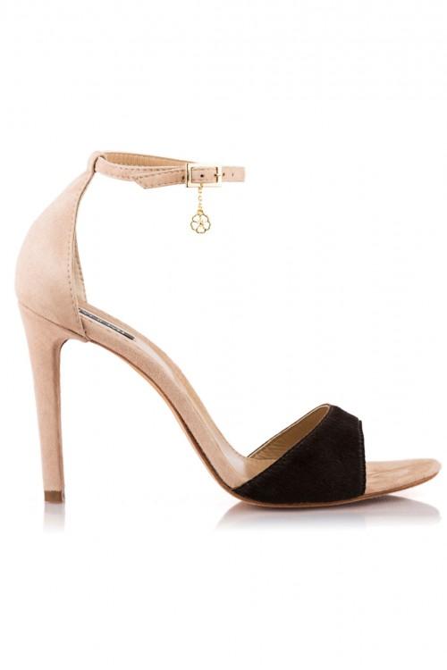 Sandale piele nude si maro Cute Spring