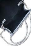 Clutch piele argintie Lucy
