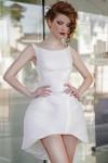 Rochie alba scurta White Tulip
