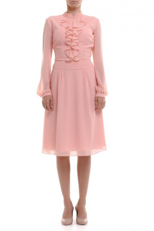 Rochie roz somon cu jabou