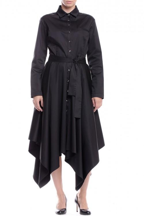 Rochie camasa neagra cu colturi