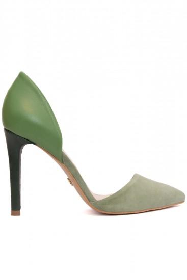 Pantofi verzi stiletto