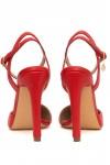Pantofi rosii cu toc subtire Glam Look