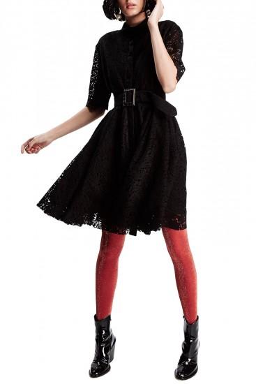 Rochie camasa dantela neagra