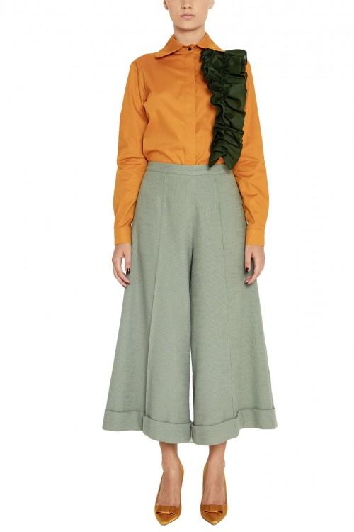 Pantaloni culottes bumbac si in Wintermint