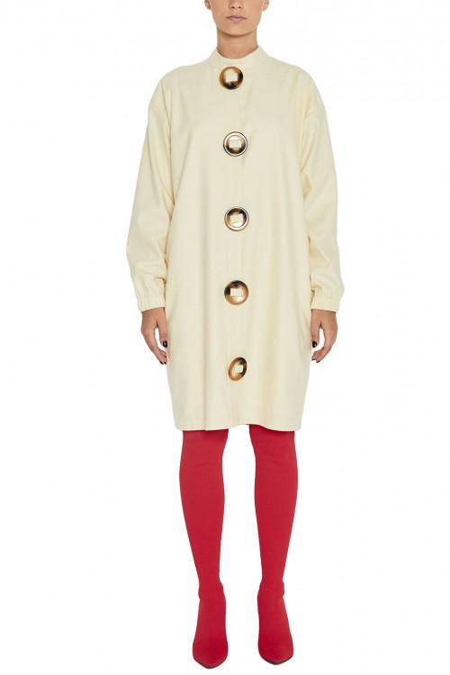 Rochie midi lana ivoire Artic