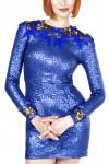 Rochie scurta paiete albastre Nyx