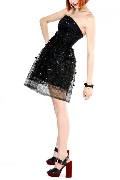 Rochie neagra cu margele si paiete Phoebe