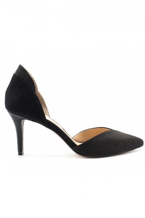 Pantofi piele neagra pepit Small Iconic