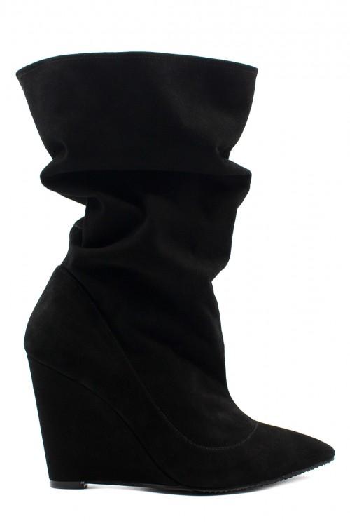 Cizme negre talpa ortopedica Versatile Chic