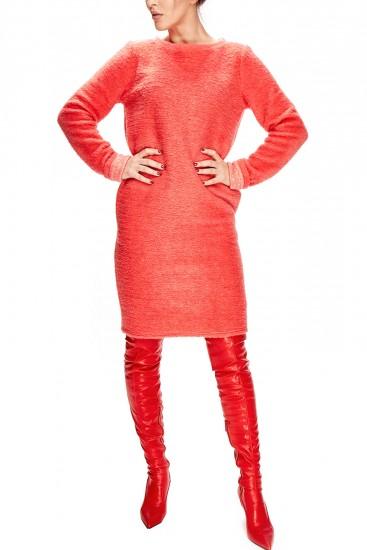 Rochie midi lana rosie
