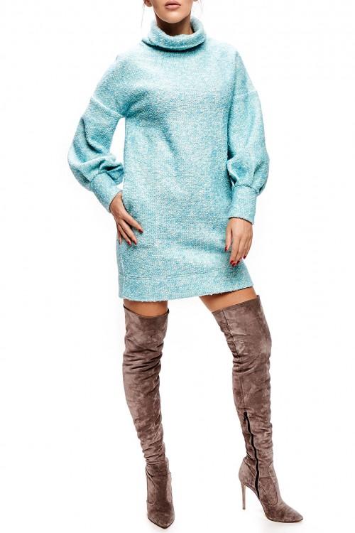 Rochie mini tricot bleu
