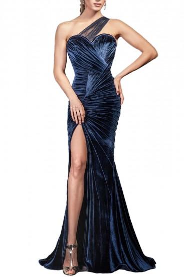 Rochie din catifea cu corset