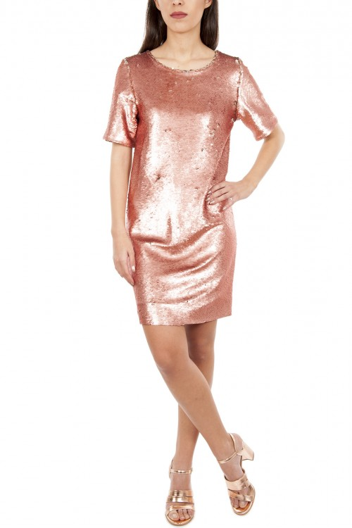 Rochie paiete si bumbac PINK