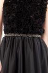 Rochie de seara tulle negru si dantela