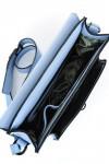 Geanta tip servieta piele bleu Gale