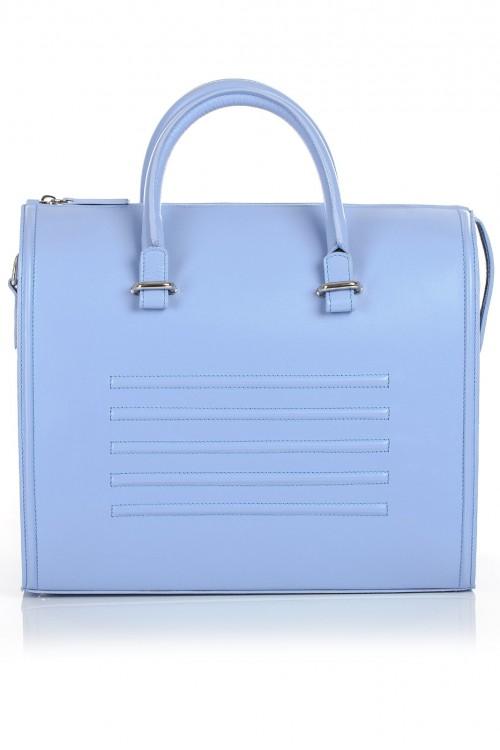 Geanta office piele bleu Laihla