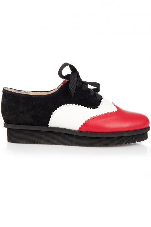 Pantofi piele cu talpa groasa Vexia